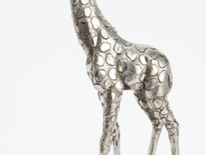 Girafe Debout Argentee